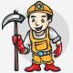 Miner Cartoon Logo