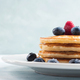 Stack of pancakes with blueberries and syrup - PhotoDune Item for Sale