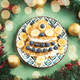 Christmas tree shaped crepes with blueberry, quark - PhotoDune Item for Sale