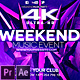 Weekend Music Event 4K - VideoHive Item for Sale