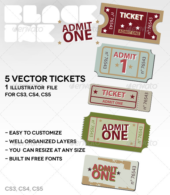 Admit-One-Tickets - Conceptual Vectors