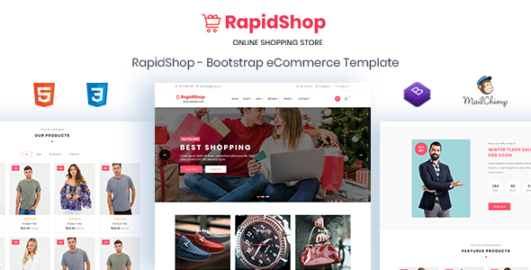Extraordinary RapidShop - eCommerce Bootstrap HTML Template