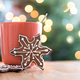 Gingerbread cookie and christmas lights - PhotoDune Item for Sale