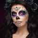 Portrait of a woman with makeup sugar skull - PhotoDune Item for Sale