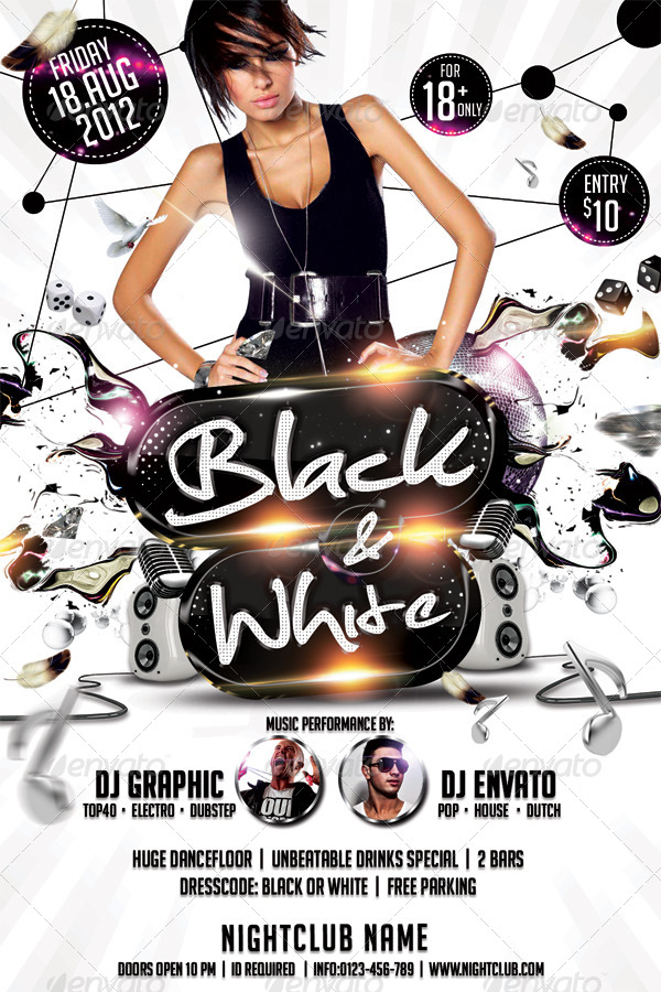 Black & White Affair Flyer Template By Hermz | Graphicriver