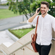 Cheerful man talking on phone - PhotoDune Item for Sale