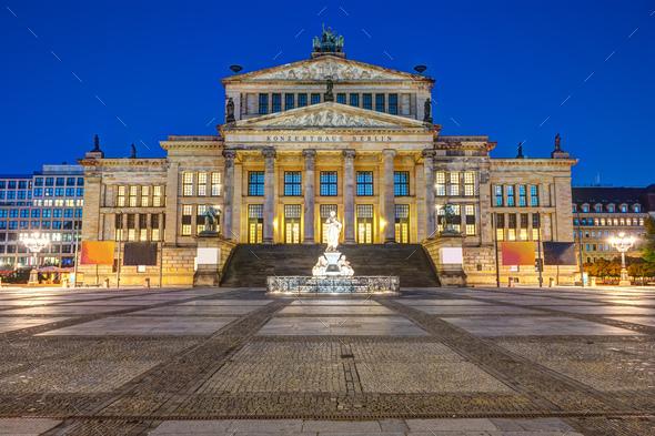 The Konzerthaus Berlin at the Gendarmenmarkt - Stock Photo - Images