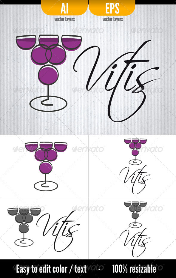 Vitis -  Logo template - Food Logo Templates