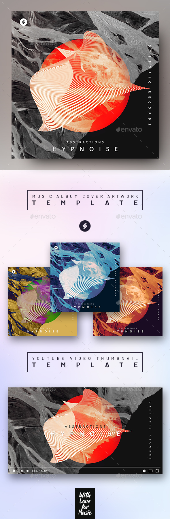 Abstractions – Music Album Cover Artwork / Video Thumbnail Template