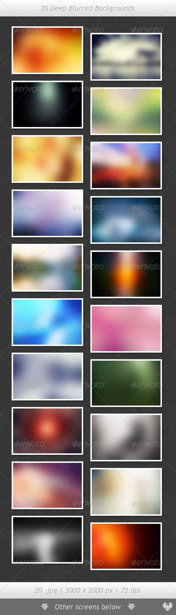 20 Deep Blurred Backgrounds - Abstract Backgrounds