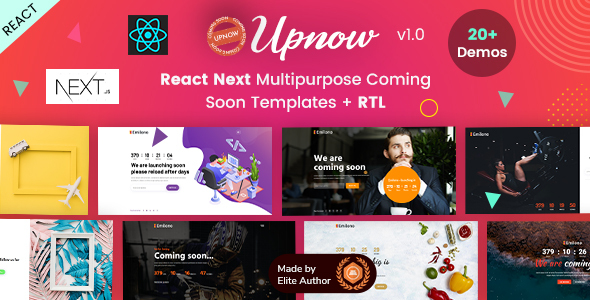 Exceptional Upnow - React Next Under Construction Landing Template