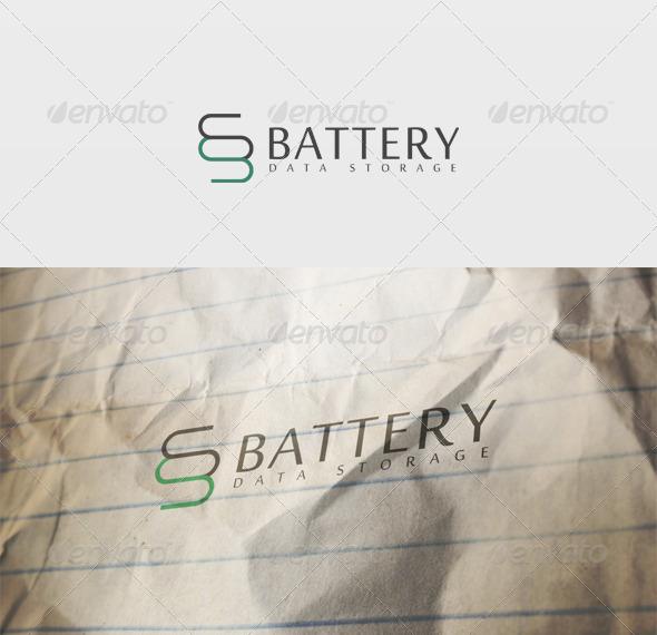 Battery Logo - Vector Abstract