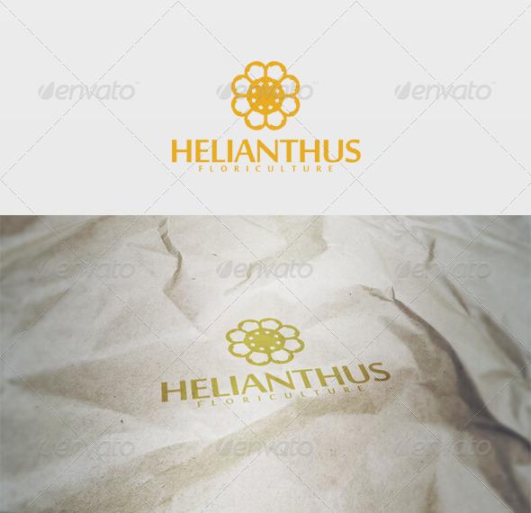Helianthus Logo - Nature Logo Templates
