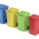 Multicolored plastic trash bins - PhotoDune Item for Sale