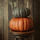 Colored pumpkins against wood background - PhotoDune Item for Sale