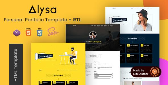 Alysa - Personal Portfolio HTML Template