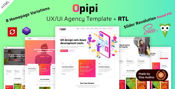 Opipi - UX/UI Agency Portfolio HTML Template