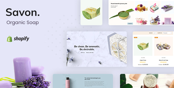 Savon - Handmade Soap, Cosmetics Beauty Shopify Theme