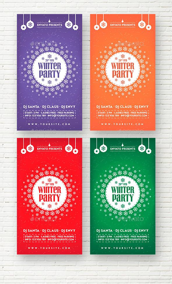 Winter Party Social Media Stories