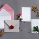 Christmas mockup cards with envelopes and holiday decoration - PhotoDune Item for Sale