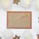 Decorative Christmas frame from garland and mockup letter - PhotoDune Item for Sale