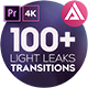 4K Light Leaks Transitions   For Premiere Pro - VideoHive Item for Sale