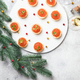 Christmas and New Year holidays composition. Red Salmon Caviar - PhotoDune Item for Sale