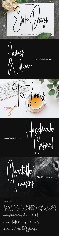 Esok Pagi Casual Signature Font