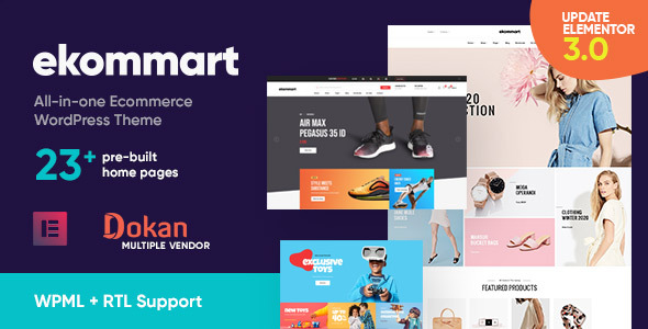 Download ekommart – All-in-one eCommerce WordPress Theme Nulled