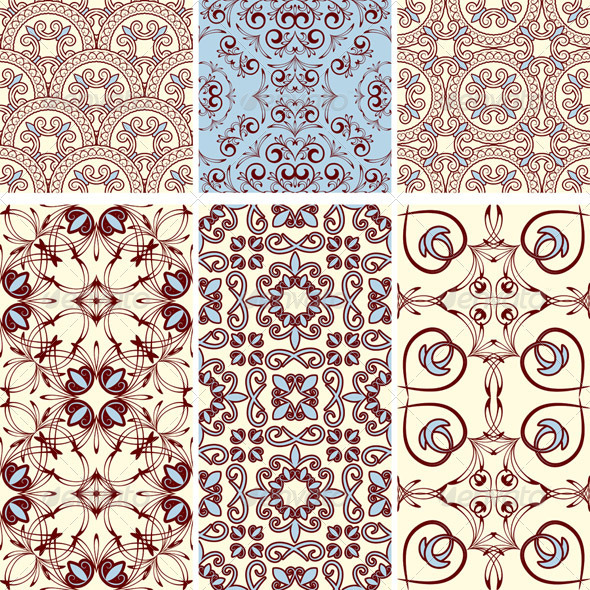6 Seamless Patterns - Patterns Decorative