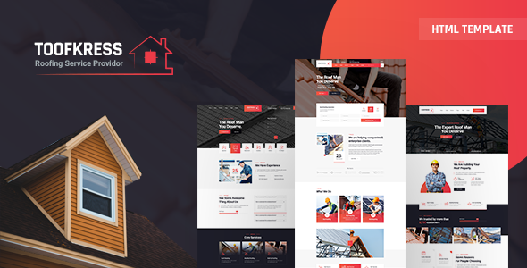 Top RoofPress - Roofing Services HTML5 Template