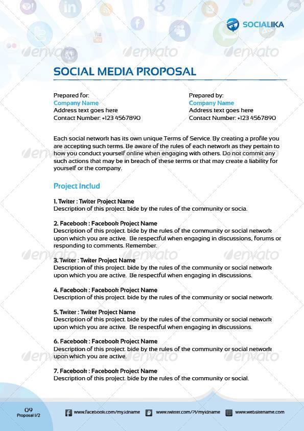 social media proposal template