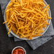 French fries. Fried mini potato sticks and ketchup - PhotoDune Item for Sale