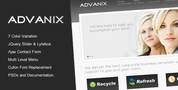 Free Download Advanix - Corporate Business HTML Template Nulled Latest Version