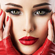 Beautiful woman with bright  fashion make-up. - PhotoDune Item for Sale