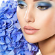 Makeup Face Flower Blue Woman Fashion - PhotoDune Item for Sale