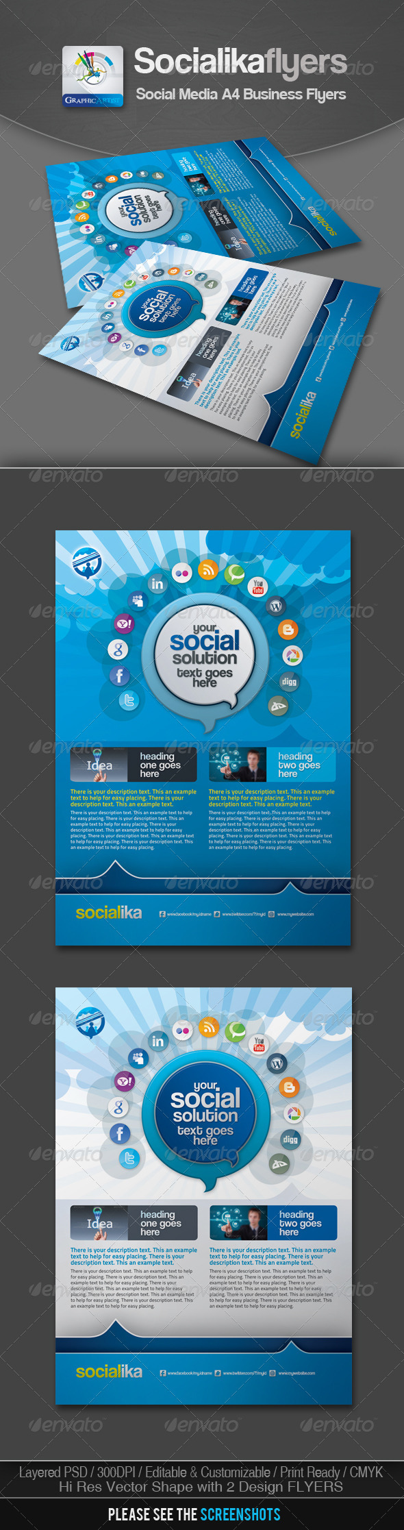 Socialika Social Media Business Flyers - Corporate Flyers