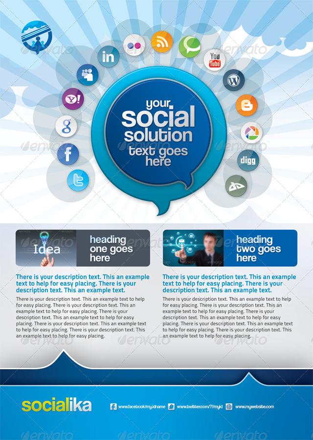 Socialika Social Media Business Flyers by GraphicArtist | GraphicRiver