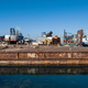 Old fertilizer industrial plant port in Drapetsona Piraeus Greece, sunny day. - PhotoDune Item for Sale