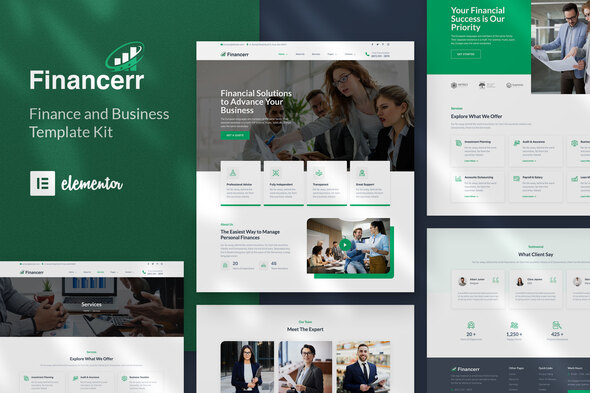 Financerr - Business & Finance Template Kit