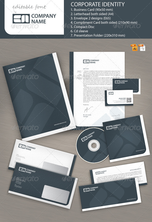 Business Brand Corporate Identity - Stationery Print Templates