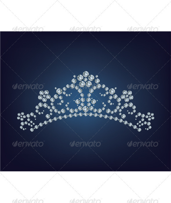 Beautiful shining princess diamond tiara. - Decorative Symbols Decorative