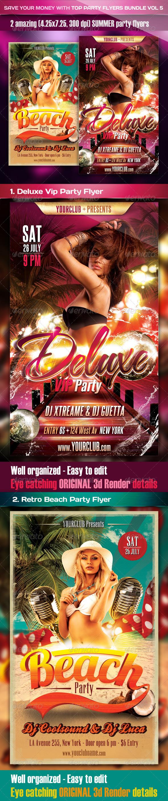 Top Party Flyer Bundle Vol6 - Clubs & Parties Events
