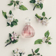 Beautiful perfume bottles and spring flowers on off white background - PhotoDune Item for Sale