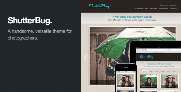 ShutterBug: Responsive Photography WordPress Theme