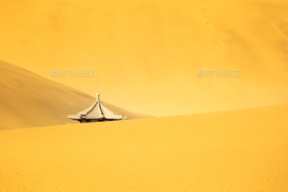 ancient tower in the desert - Stock Photo - Images