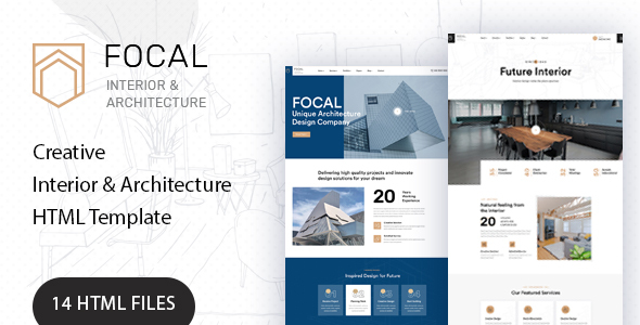 Focal - Architecture HTML Template