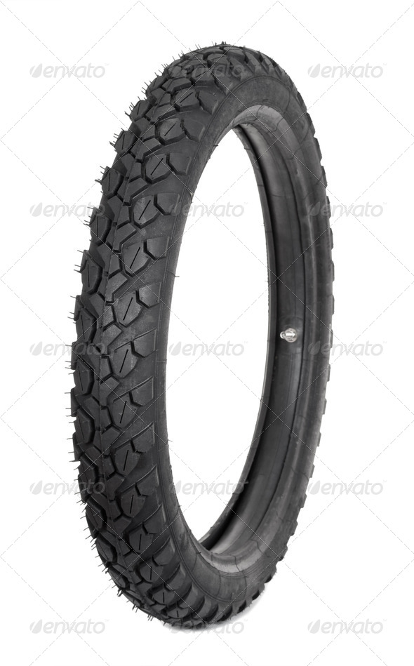 Motorcycle tyre - Stock Photo - Images