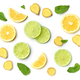 lime and lemon slices on white background - PhotoDune Item for Sale