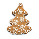 Gingerbread cookie isolated on white - PhotoDune Item for Sale